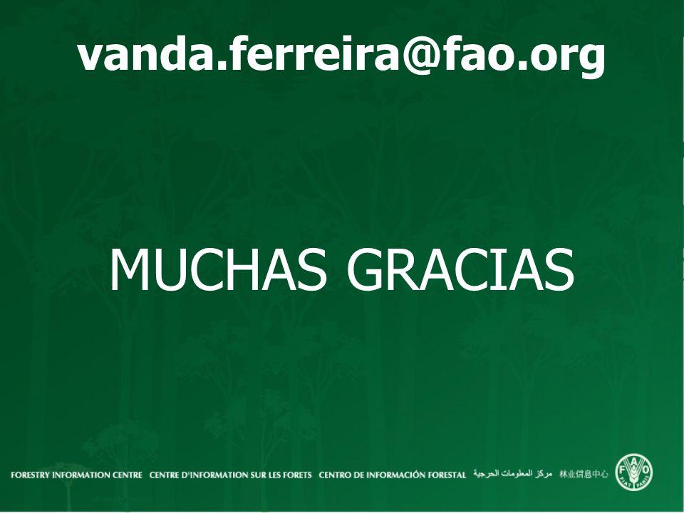 vanda.ferreira@fao.org MUCHAS GRACIAS