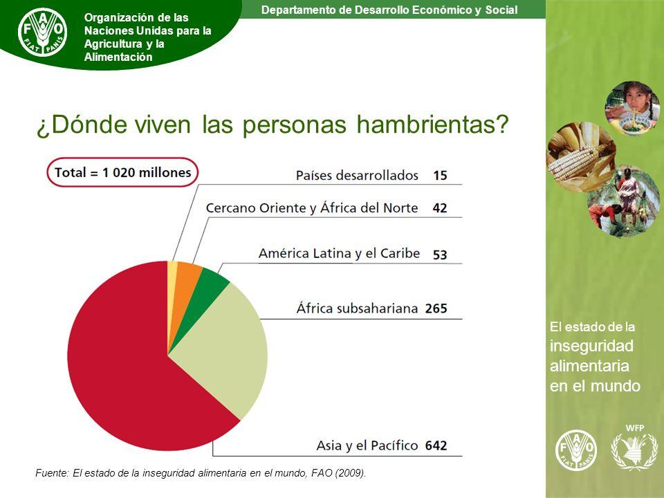 4 The State of Food Insecurity in the World Departamento de Desarrollo Económico y Social Organización de las Naciones Unidas para la Agricultura y la Alimentación El estado de la inseguridad alimentaria en el mundo ¿Dónde viven las personas hambrientas.