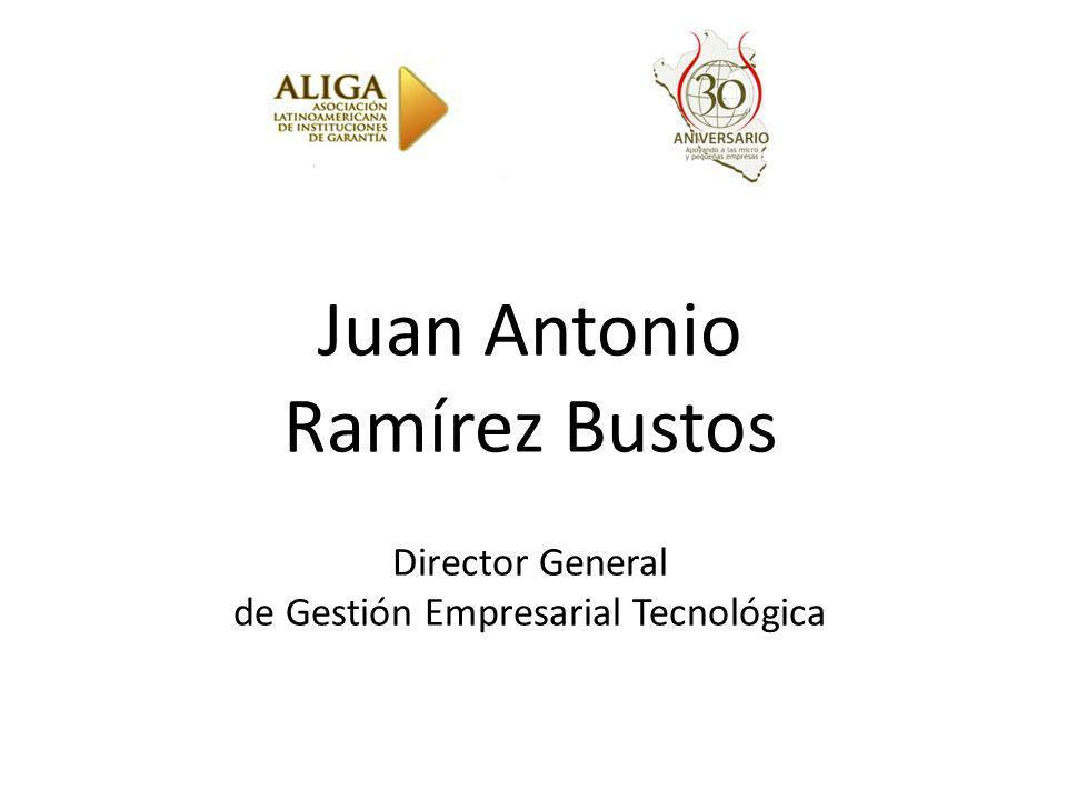 Juan Antonio Ramírez Bustos Director General de Gestión Empresarial Tecnológica