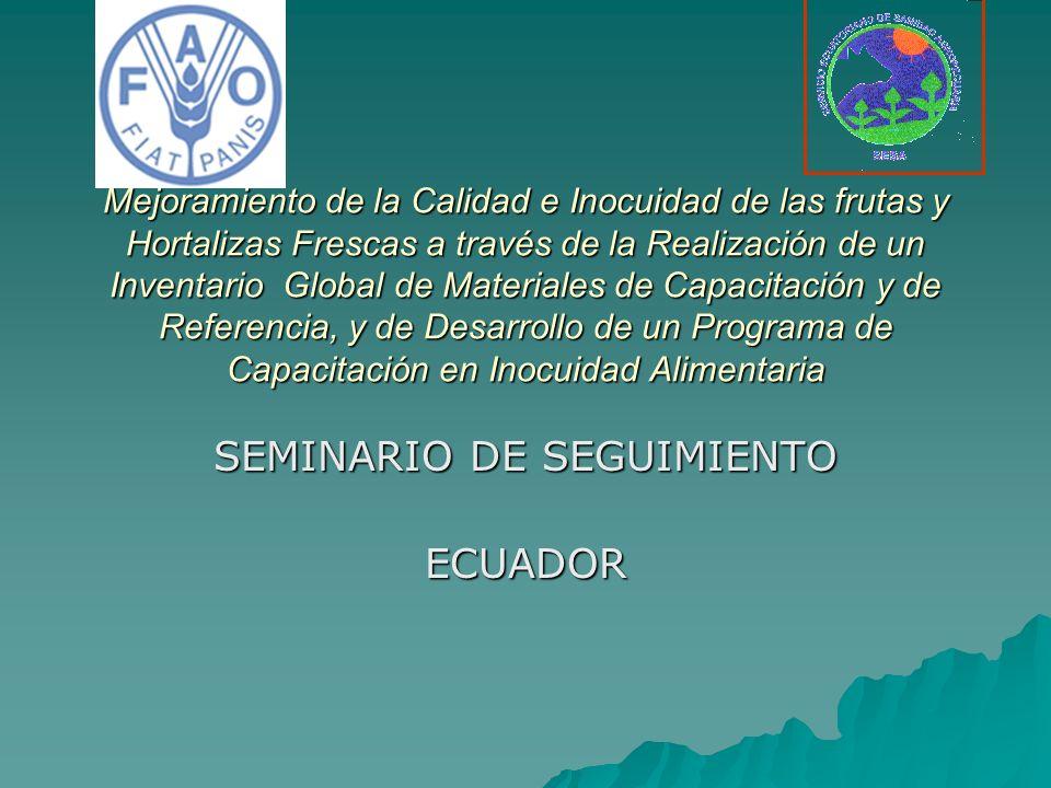ASPECTOS GENERALES DEL SECTOR HORTOFRUTÍCOLA DEL ECUADOR En el año 2002 el sector agricultura,caza, silvicultura y pesca presentó el 17.3% del PIB.