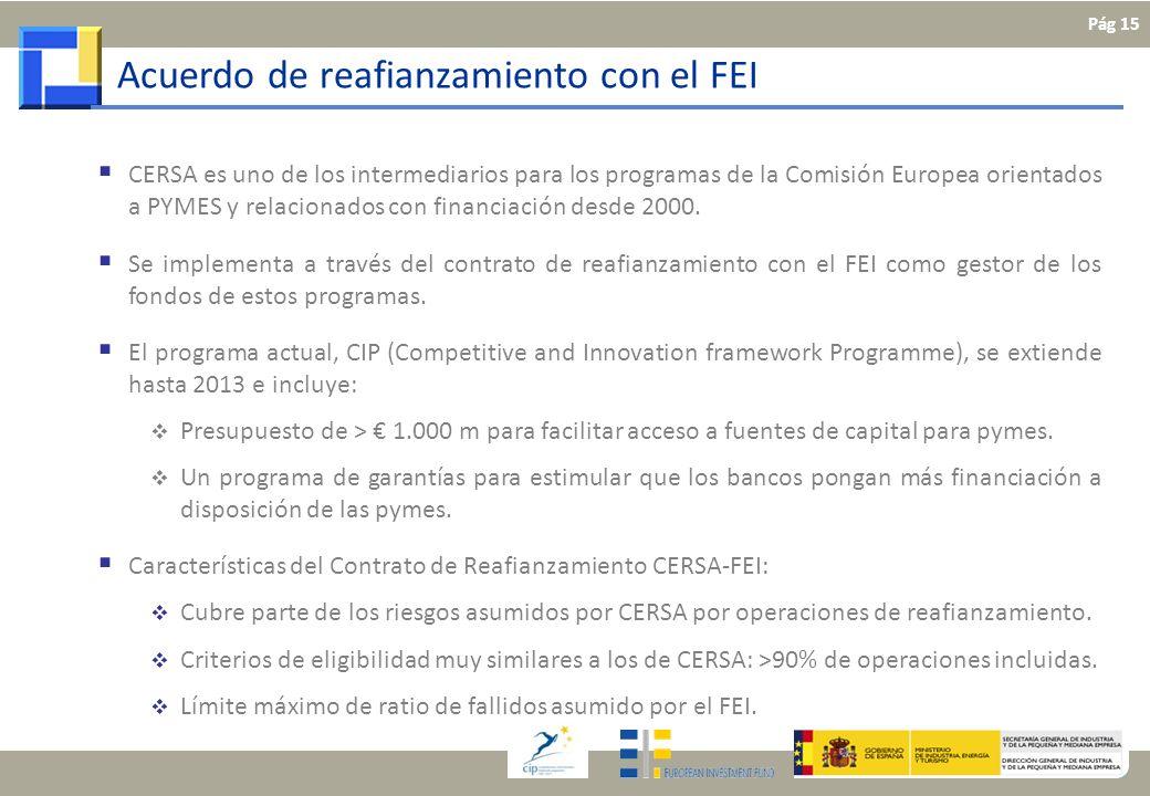 CERSA es uno de los intermediarios para los programas de la Comisión Europea orientados a PYMES y relacionados con financiación desde 2000. Se impleme