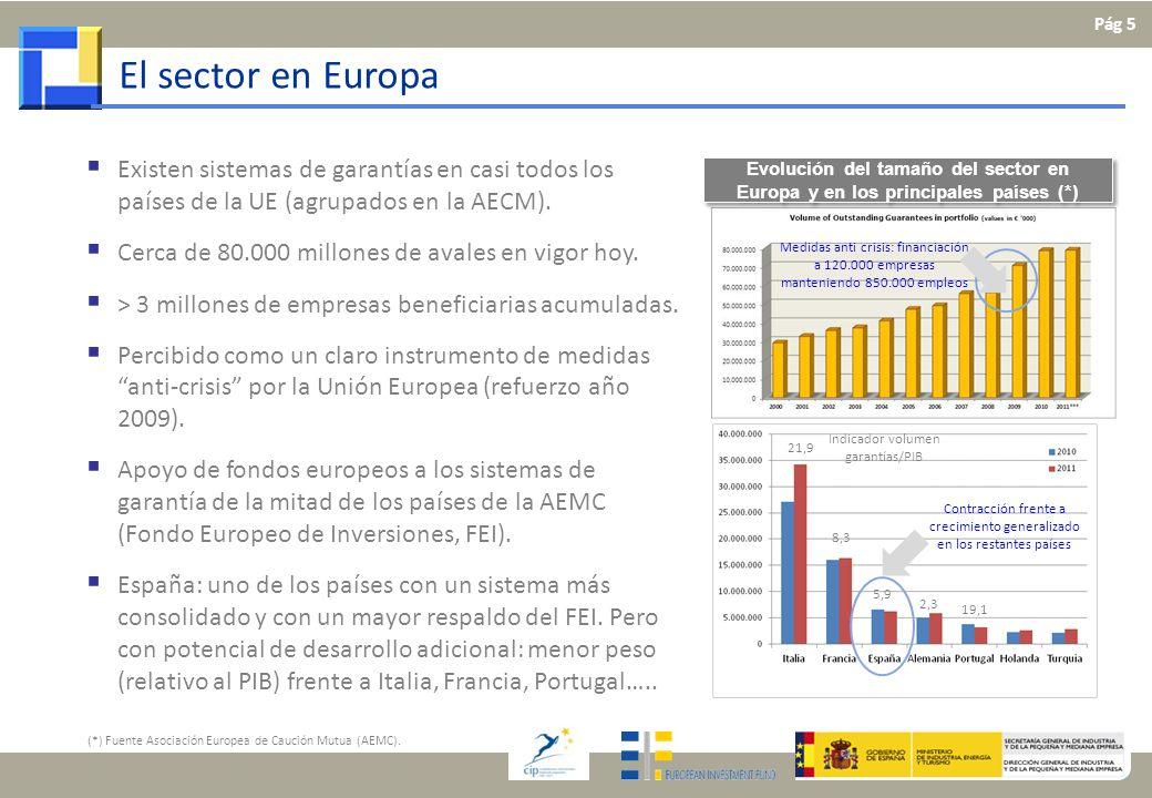 El sector en Europa Existen sistemas de garantías en casi todos los países de la UE (agrupados en la AECM). Cerca de 80.000 millones de avales en vigo