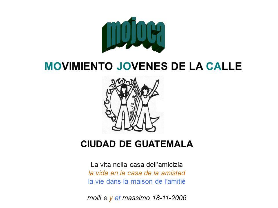 MOVIMIENTO JOVENES DE LA CALLE CIUDAD DE GUATEMALA La vita nella casa dellamicizia la vida en la casa de la amistad la vie dans la maison de lamitié m