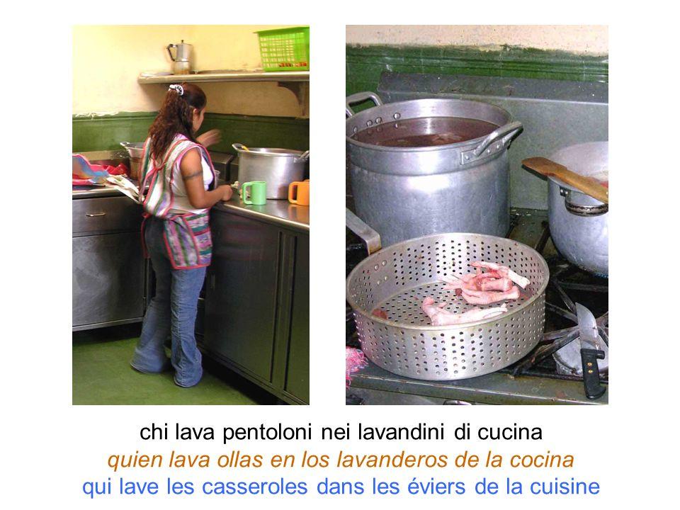 chi lava pentoloni nei lavandini di cucina quien lava ollas en los lavanderos de la cocina qui lave les casseroles dans les éviers de la cuisine