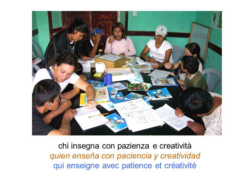 chi insegna con pazienza e creatività quien enseña con paciencia y creatividad qui enseigne avec patience et créativité