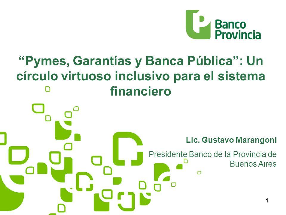 1 Pymes, Garantías y Banca Pública: Un círculo virtuoso inclusivo para el sistema financiero Lic.
