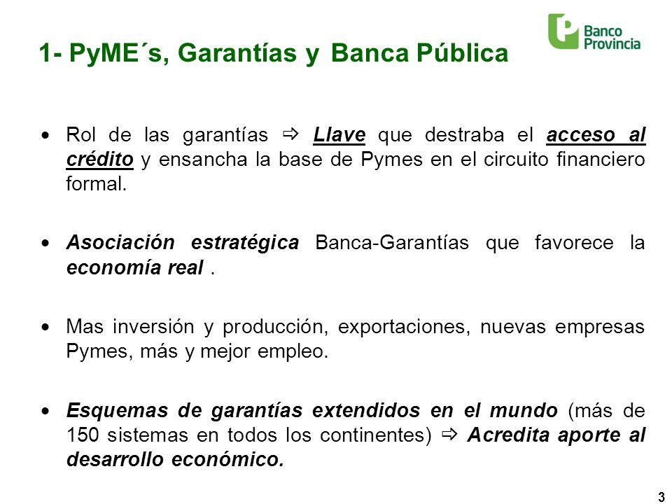 4 1- PyME´s, Garantías y Banca Pública ¿Por qué nos necesitamos mutuamente.