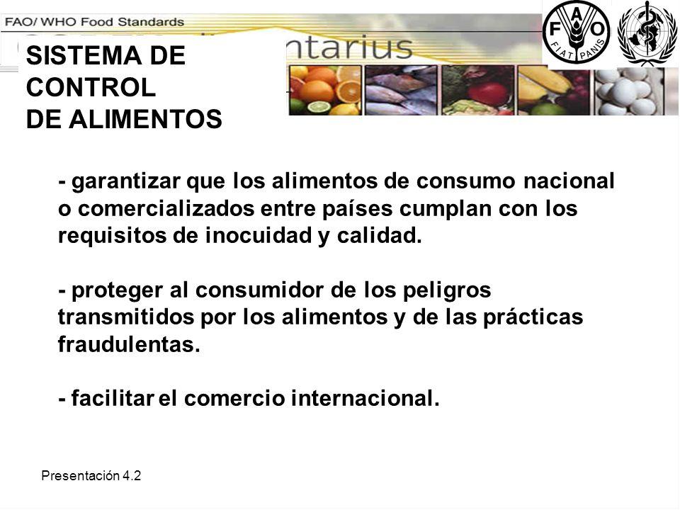 Presentación 4.2 - proteger al consumidor, facilitar la producción inocua y prácticas equitativas en el comercio.