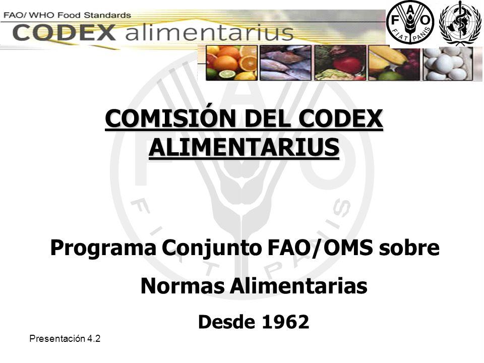 Presentación 4.2 Límites máximos de residuos de plaguicidas y contaminantes para un gran número de frutas y hortalizas.