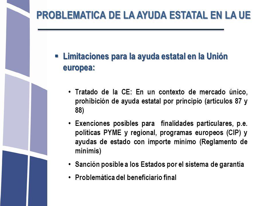 Limitaciones para la ayuda estatal en la Unión europea: Limitaciones para la ayuda estatal en la Unión europea: Tratado de la CE: En un contexto de me