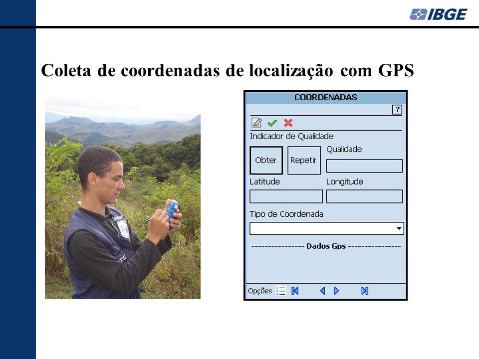 Coleta de coordenadas de localização com GPS