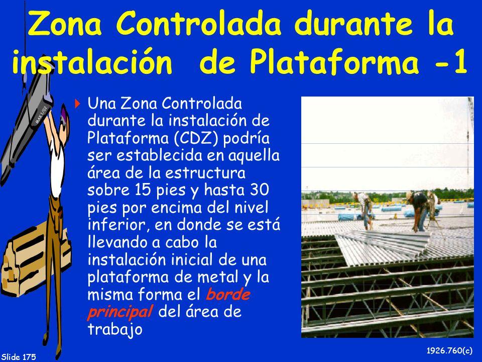 MAK 1/02 Slide 175 Zona Controlada durante la instalación de Plataforma -1 Una Zona Controlada durante la instalación de Plataforma (CDZ) podría ser e