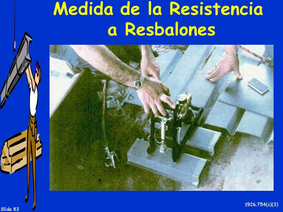 MAK 1/02 Slide 83 Medida de la Resistencia a Resbalones 1926.754(c)(3)