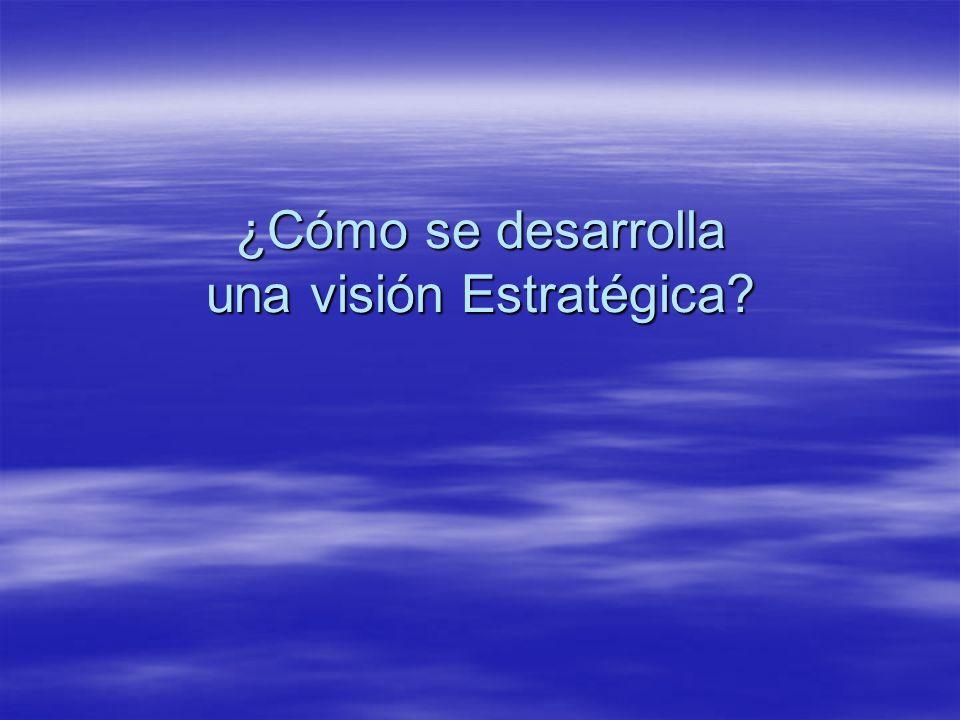 ¿Cómo se desarrolla una visión Estratégica?