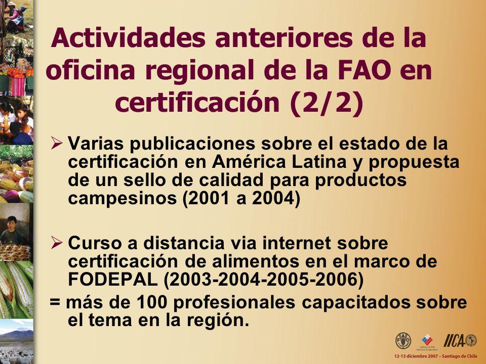 Varias publicaciones sobre el estado de la certificación en América Latina y propuesta de un sello de calidad para productos campesinos (2001 a 2004)