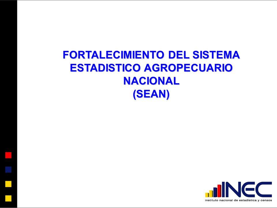 FORTALECIMIENTO DEL SISTEMA ESTADISTICO AGROPECUARIO NACIONAL (SEAN)
