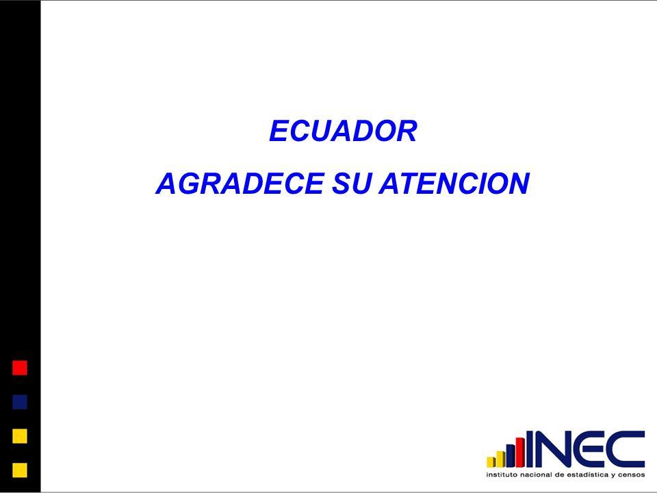 ECUADOR AGRADECE SU ATENCION