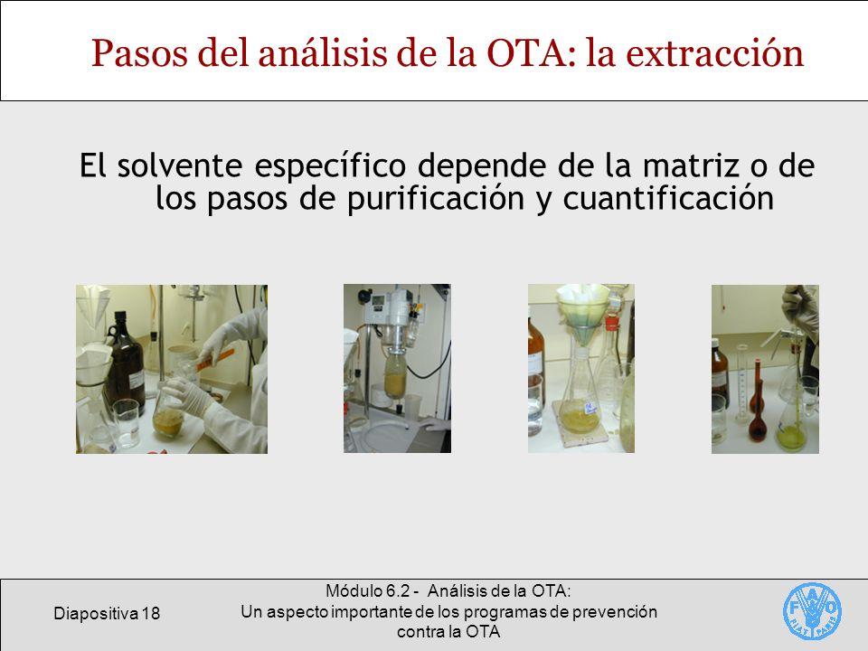 Diapositiva 18 Módulo 6.2 - Análisis de la OTA: Un aspecto importante de los programas de prevención contra la OTA Pasos del análisis de la OTA: la ex