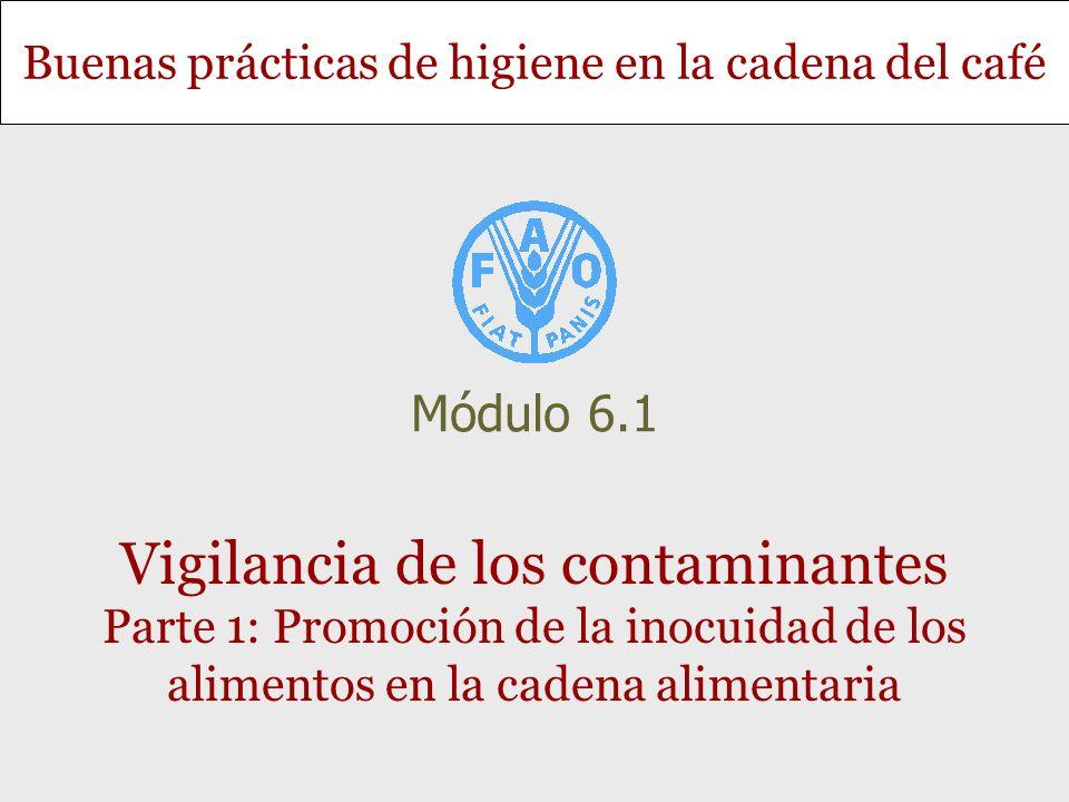 Buenas prácticas de higiene en la cadena del café Vigilancia de los contaminantes Parte 1: Promoción de la inocuidad de los alimentos en la cadena ali