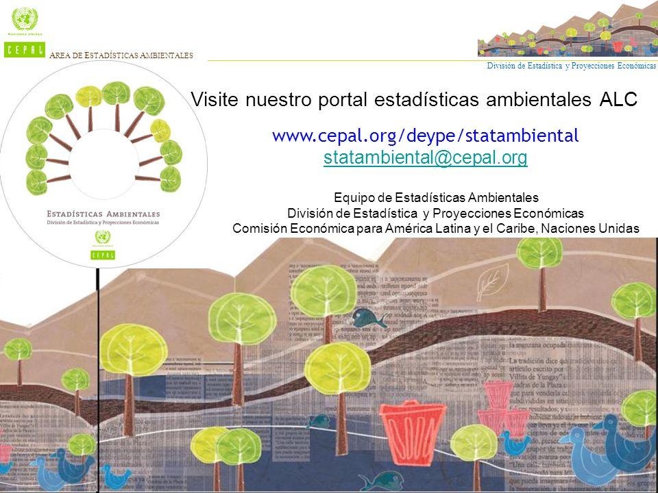 División de Estadística y Proyecciones Económicas A REA DE E STADÍSTICAS A MBIENTALES www.cepal.org/deype/statambiental statambiental@cepal.org Visite