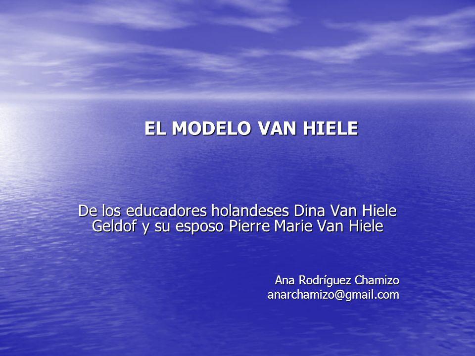 EL MODELO VAN HIELE De los educadores holandeses Dina Van Hiele Geldof y su esposo Pierre Marie Van Hiele Ana Rodríguez Chamizo anarchamizo@gmail.com