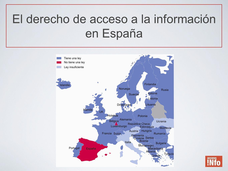 El derecho de acceso a la información en España