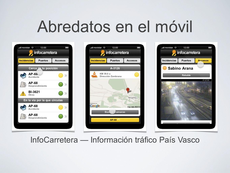 Abredatos en el móvil InfoCarretera Información tráfico País Vasco