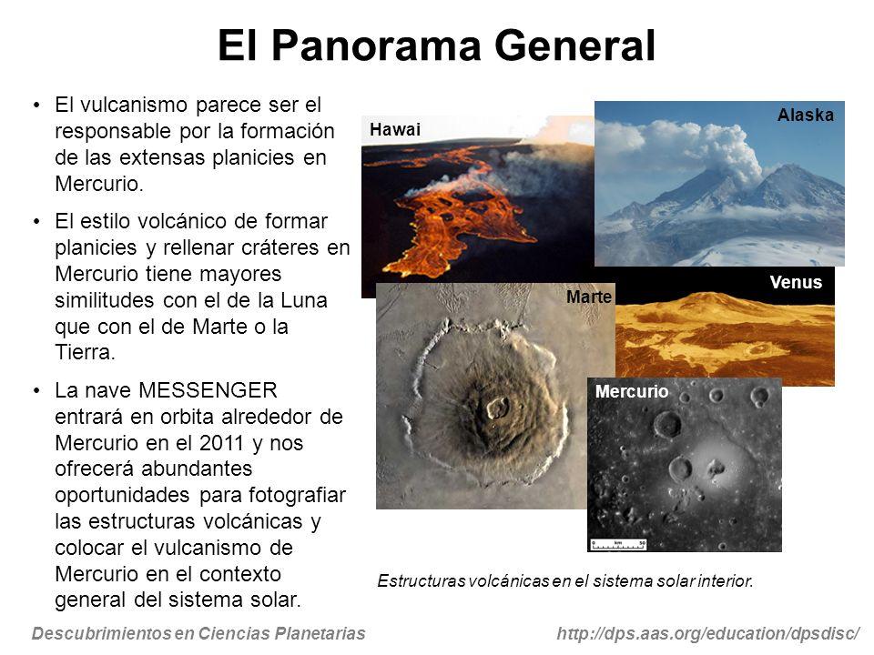 Descubrimientos en Ciencias Planetariashttp://dps.aas.org/education/dpsdisc/ El Panorama General El vulcanismo parece ser el responsable por la formac