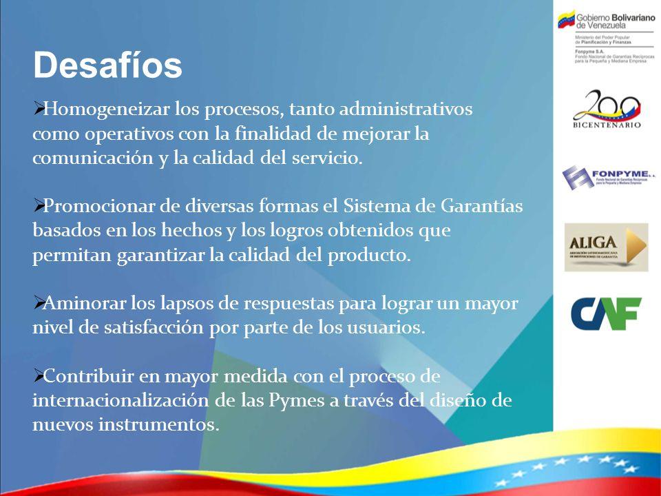 Desafíos Homogeneizar los procesos, tanto administrativos como operativos con la finalidad de mejorar la comunicación y la calidad del servicio. Promo