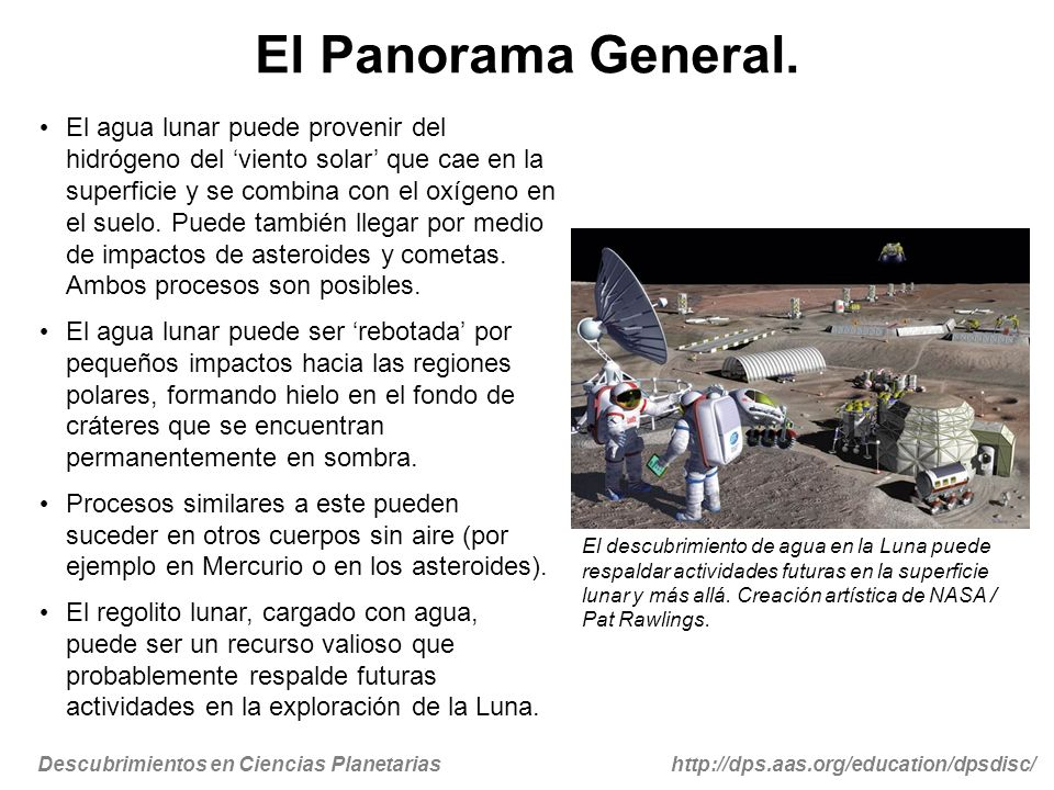 Descubrimientos en Ciencias Planetariashttp://dps.aas.org/education/dpsdisc/ El Panorama General.