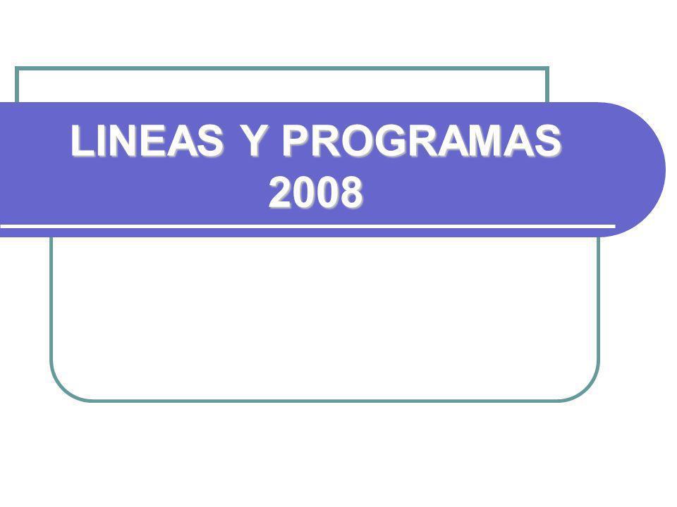 LINEAS Y PROGRAMAS 2008