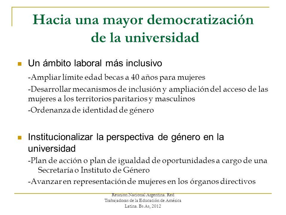 Reunion Nacional Argentina. Red Trabajadoras de la Educación de América Latina.