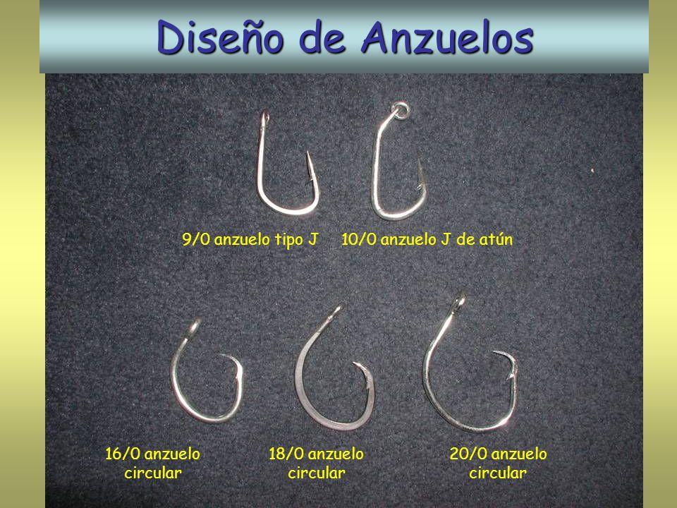 Diseño de Anzuelos 9/0 anzuelo tipo J10/0 anzuelo J de atún 16/0 anzuelo circular 18/0 anzuelo circular 20/0 anzuelo circular