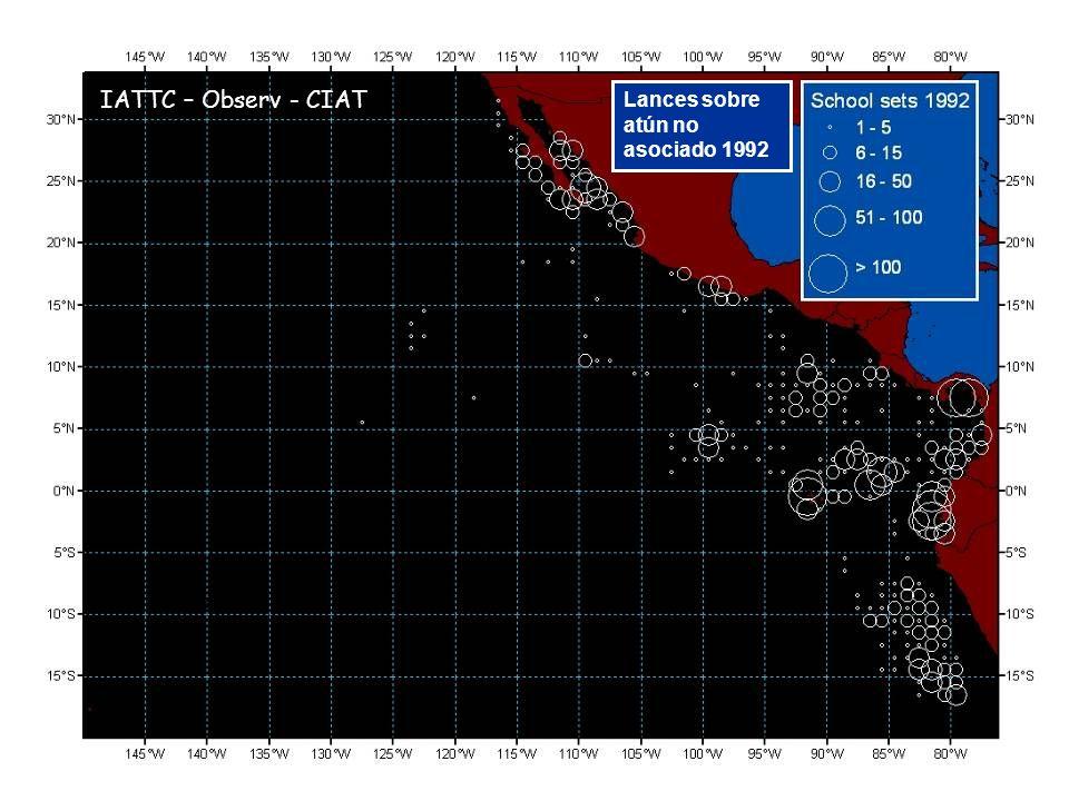 Lances sobre atún no asociado 1992 IATTC – Observ - CIAT