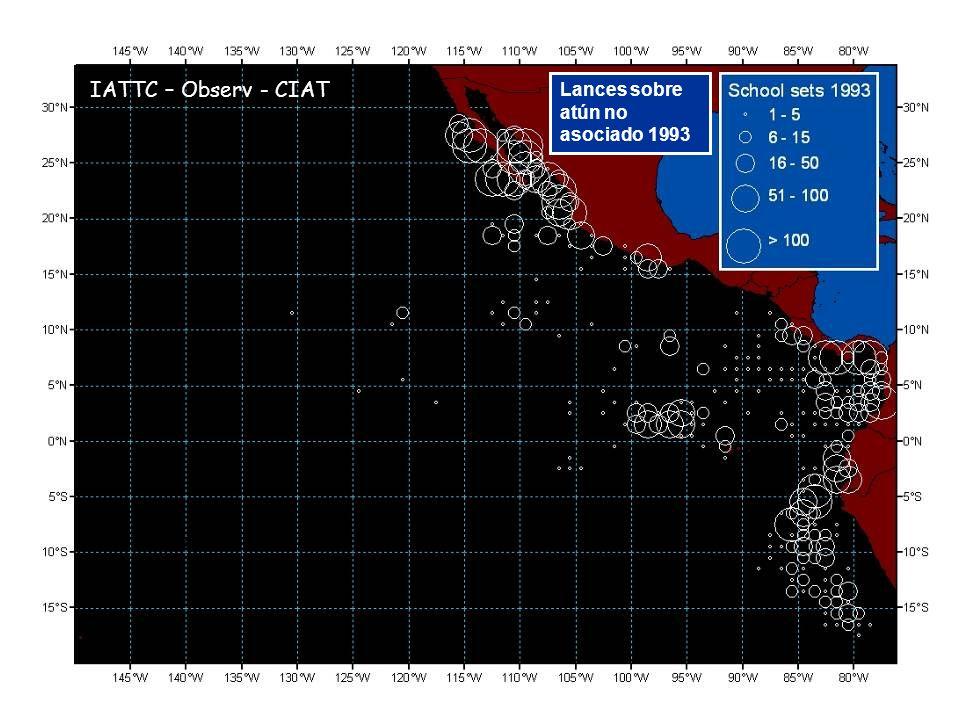 Lances sobre atún no asociado 1993 IATTC – Observ - CIAT