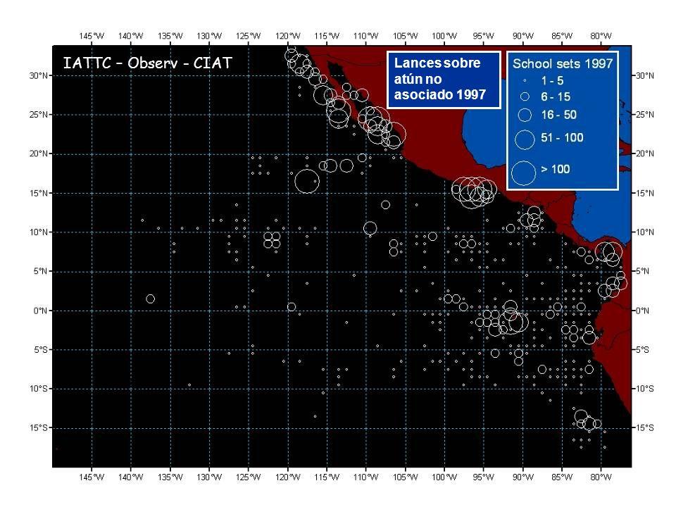 Lances sobre atún no asociado 1997 IATTC – Observ - CIAT