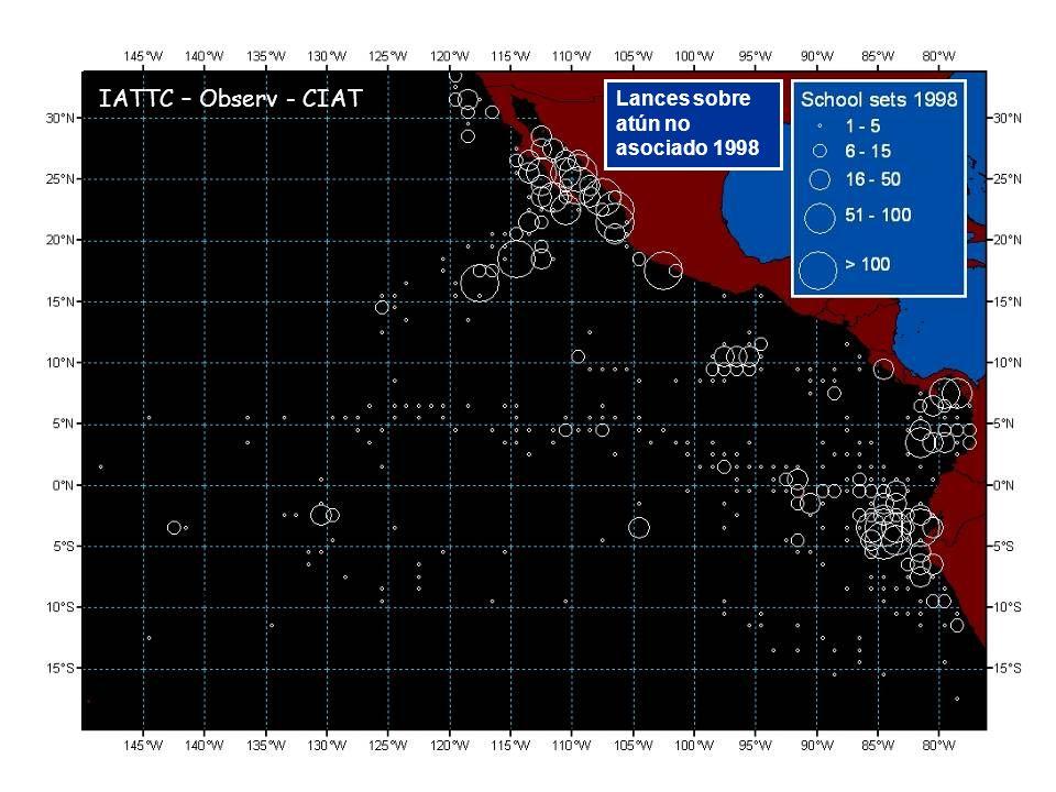 Lances sobre atún no asociado 1998 IATTC – Observ - CIAT