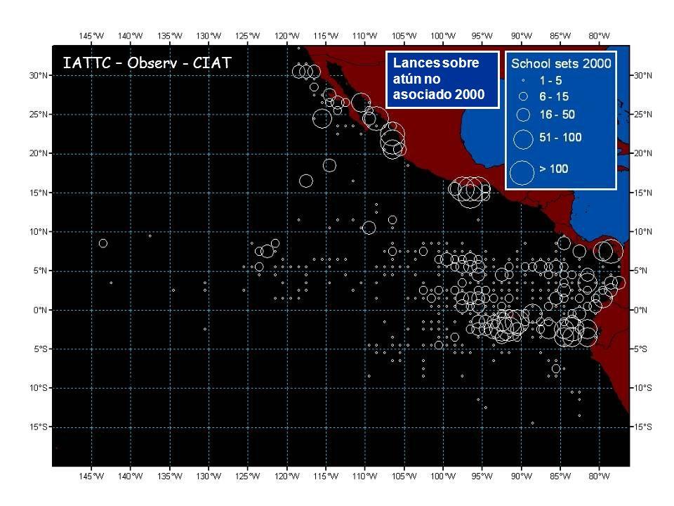 Lances sobre atún no asociado 2000 IATTC – Observ - CIAT