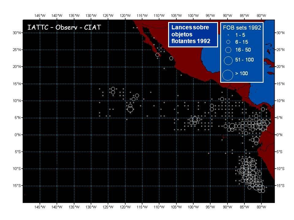 Lances sobre objetos flotantes 1992 IATTC – Observ - CIAT