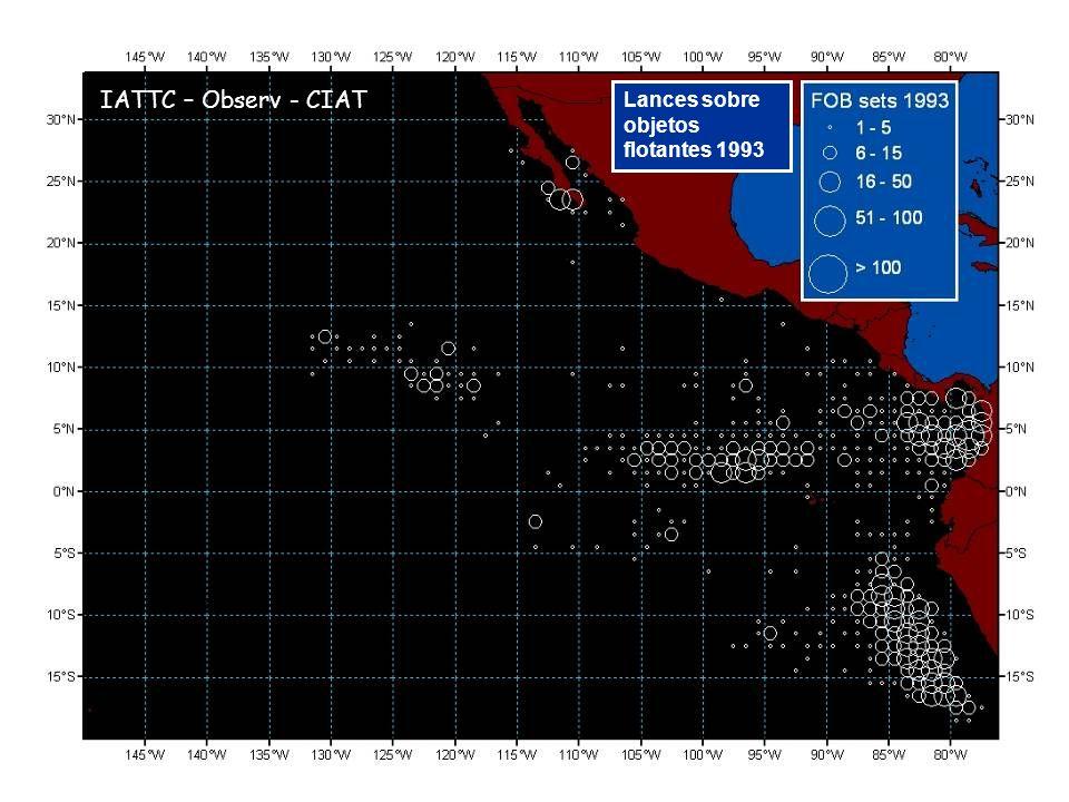 Lances sobre objetos flotantes 1993 IATTC – Observ - CIAT