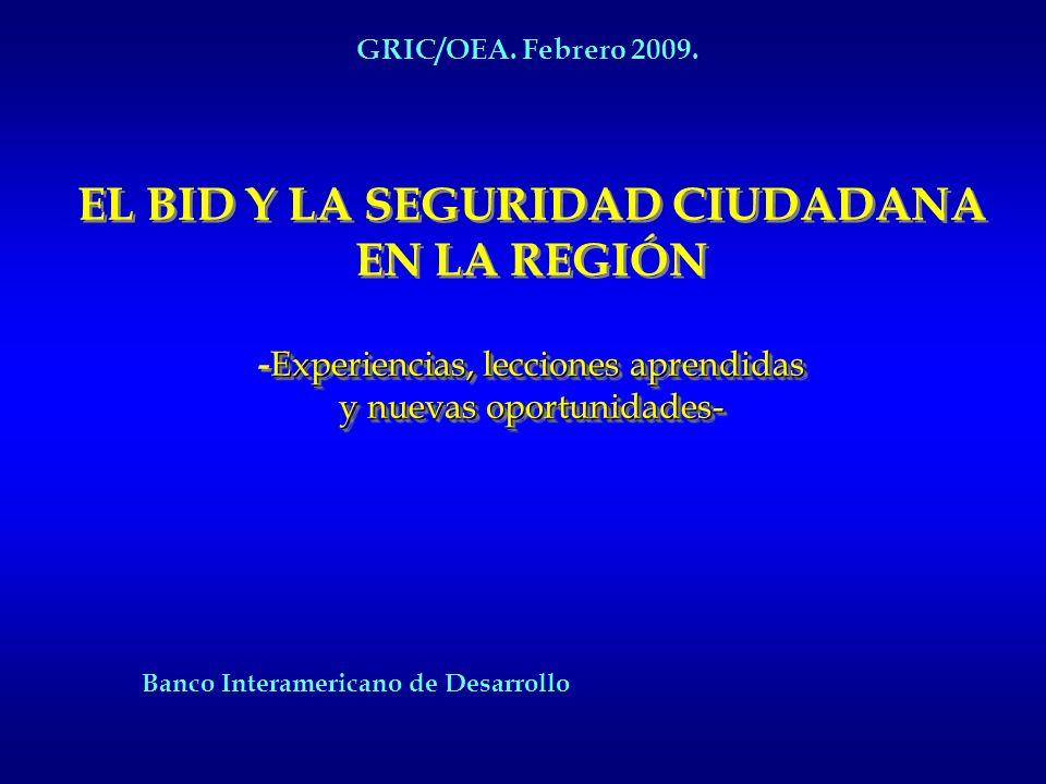Presentación del Banco Interamericano de Desarrollo Sobre Seguridad Ciudadana GRUPO DE REVISIÓN DE LA IMPLEMENTACIÓNOEA/Ser.E DE CUMBRES (GRIC) GRIC/O