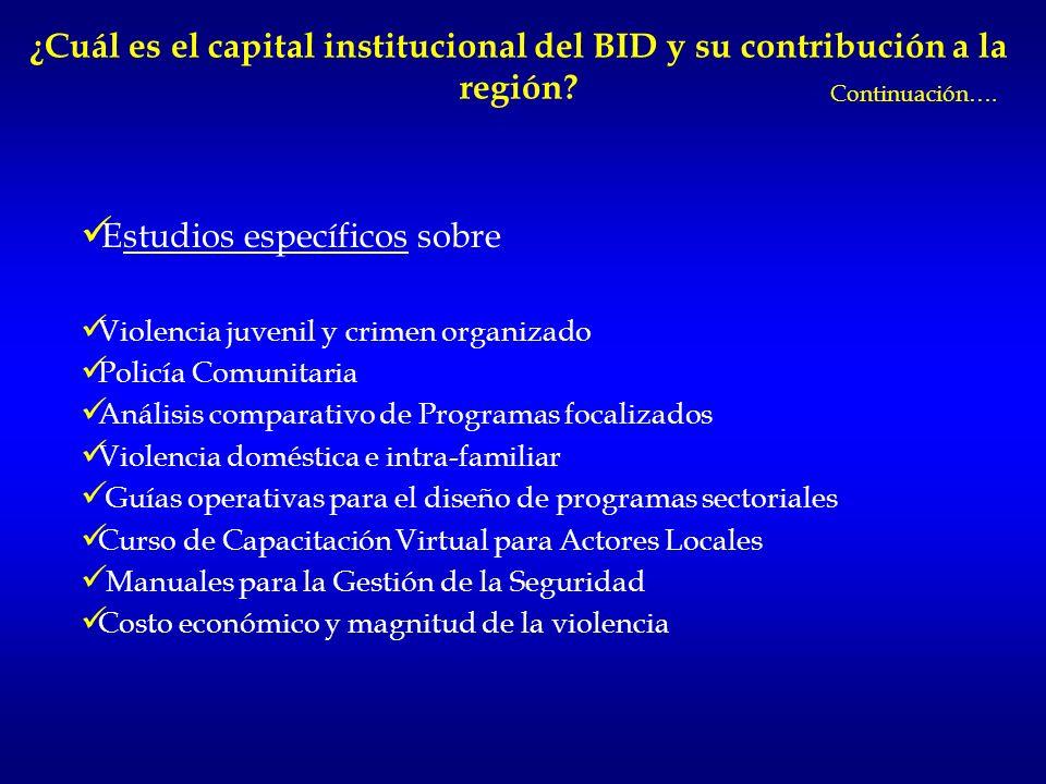 ¿Cuál es el valor agregado del BID en los proyectos de seguridad? Intervenciones integrales con un enfoque sistémico y de largo plazo. Asesoría técnic