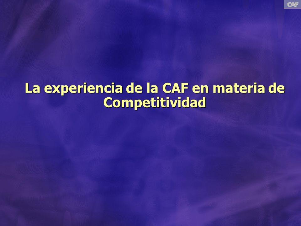 La experiencia de la CAF en materia de Competitividad