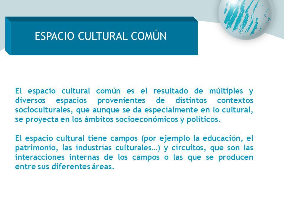 ESPACIO CULTURAL COMÚN El espacio cultural común es el resultado de múltiples y diversos espacios provenientes de distintos contextos socioculturales,