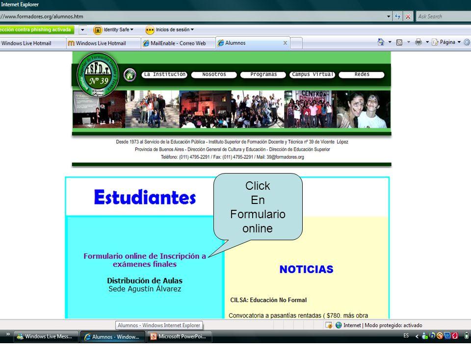 Click En Formulario online