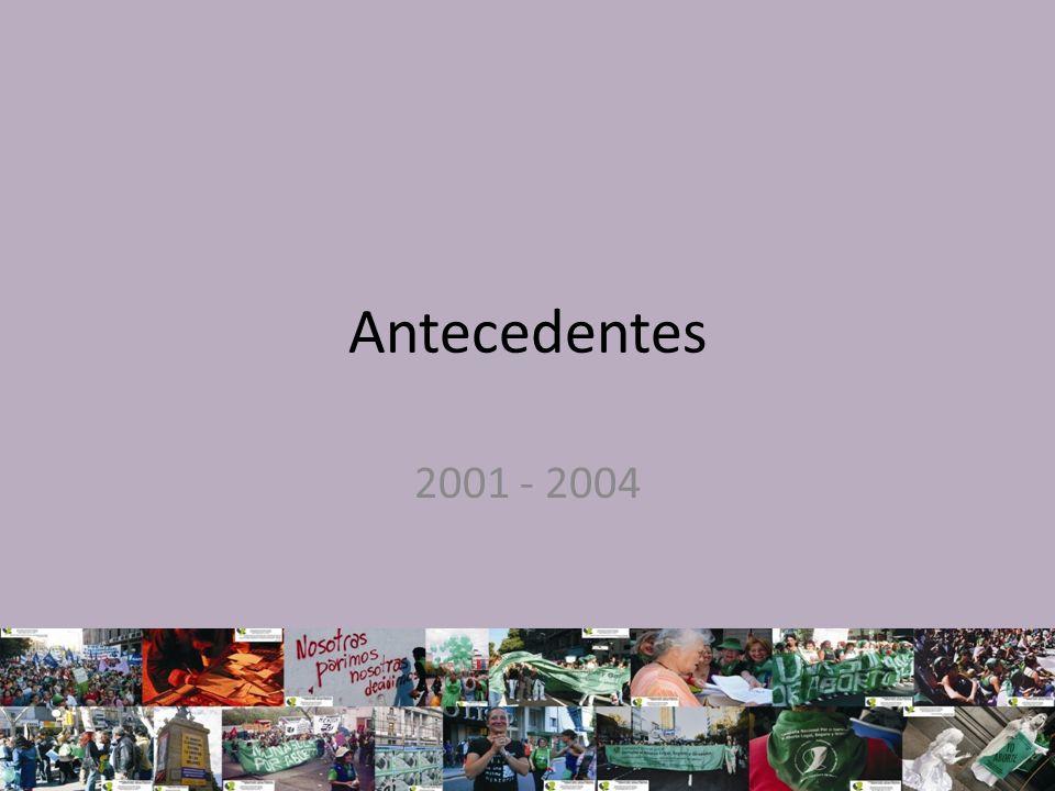 19 y 20 de diciembre del 2001 el aborto se lleva a las Asambleas Incorporación de la anticoncepción, la educación sexual y la legalización del aborto en la INTERSALUD Se consigue que las asambleas apoyen las actividades del día 28 de septiembre.