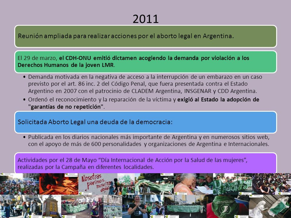 2011 Reunión ampliada para realizar acciones por el aborto legal en Argentina.