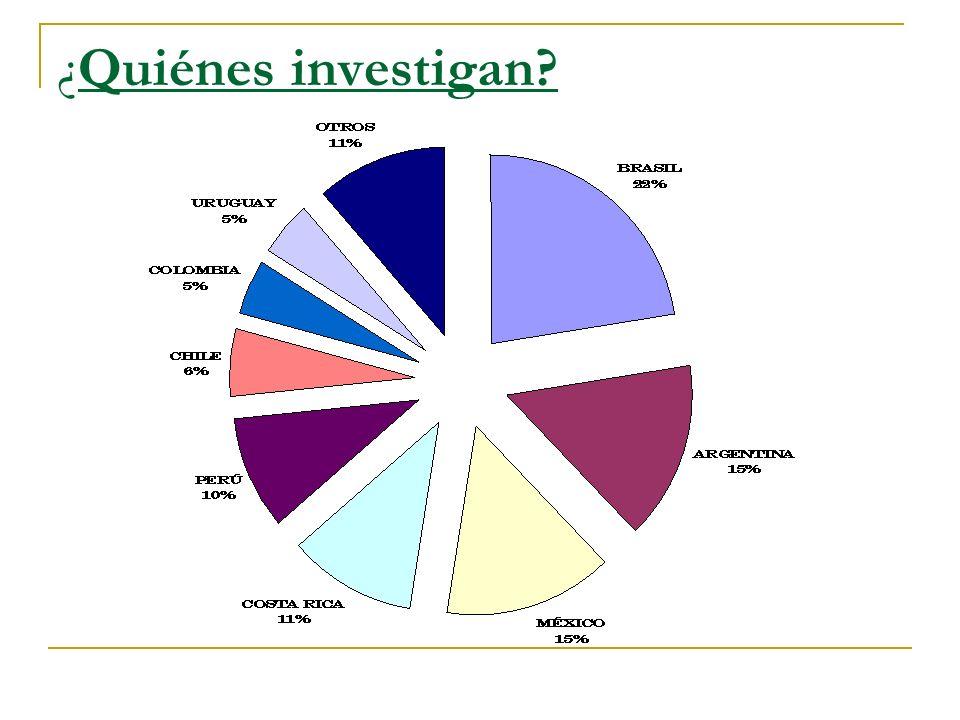 ¿Quiénes investigan? -