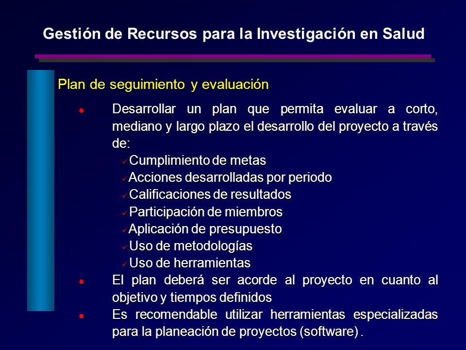 Plan de seguimiento y evaluación Plan de seguimiento y evaluación Desarrollar un plan que permita evaluar a corto, mediano y largo plazo el desarrollo