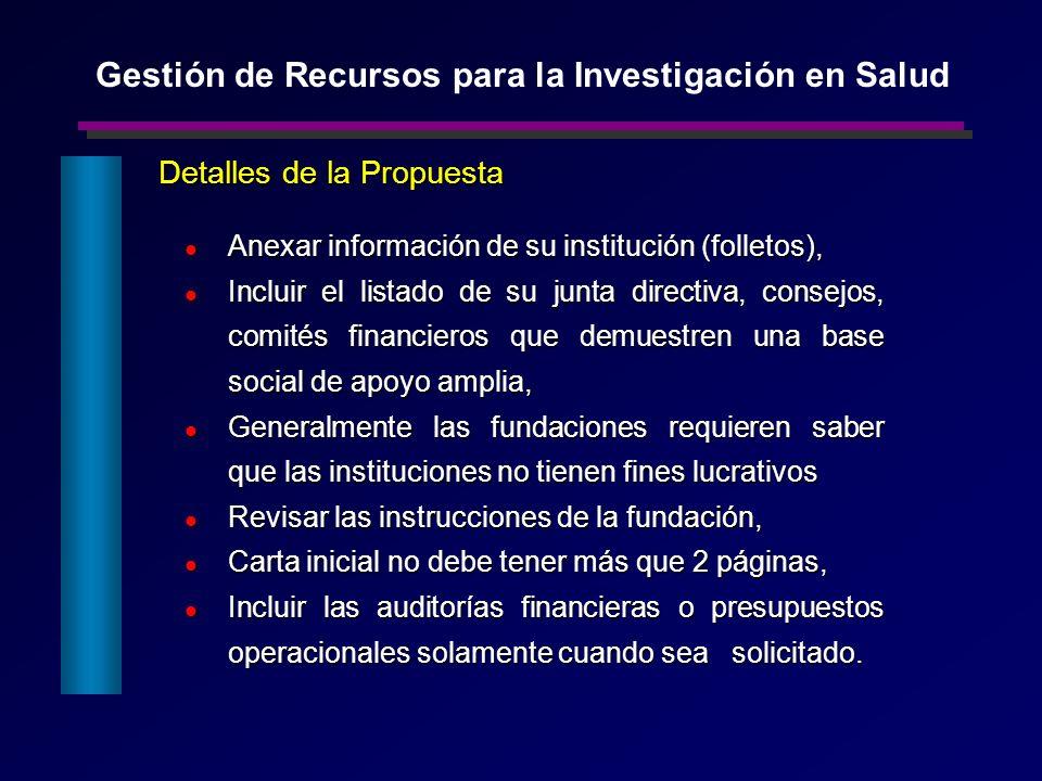 Detalles de la Propuesta Anexar información de su institución (folletos), Anexar información de su institución (folletos), Incluir el listado de su ju